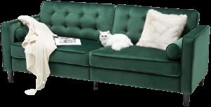Esright Green Velvet Couch Mid Century Modern Couch