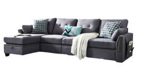 HONBAY Reversible Sectional L-Shape Sofa Couch